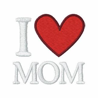 I Love Mom Embroidered Polo Shirt