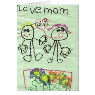 i love mom greeting card