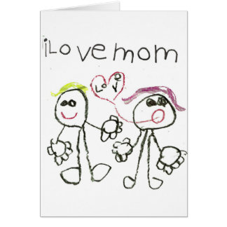 i love mom greeting card