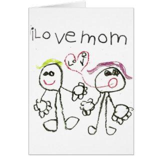 i love mom greeting cards