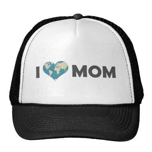 I Love Mom Mesh Hats