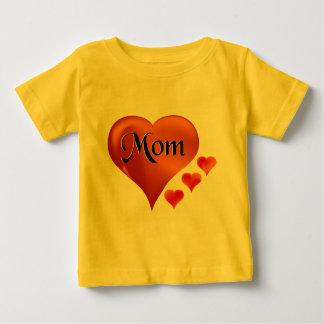 "I love Mom Hearts with word ""Mom"" T-shirts"