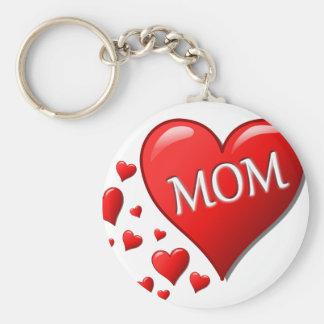 I Love Mom Key Ring