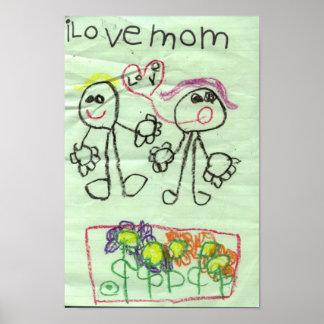 i love mom poster