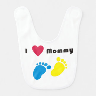 I love mommy baby bib