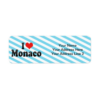 I Love Monaco Return Address Label