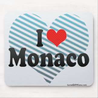 I Love Monaco Mouse Pad