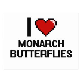 I love Monarch Butterflies Digital Design Postcard