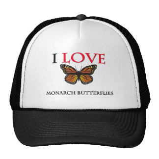 I Love Monarch Butterflies Hat
