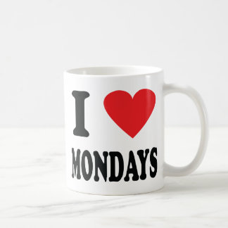 I love mondays icon coffee mug