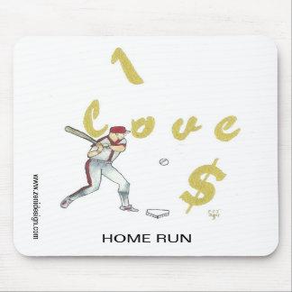 I Love Money Baseball Player Mousepad