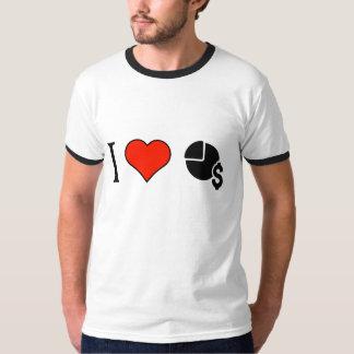 I Love Money Pie Charts Tee Shirt