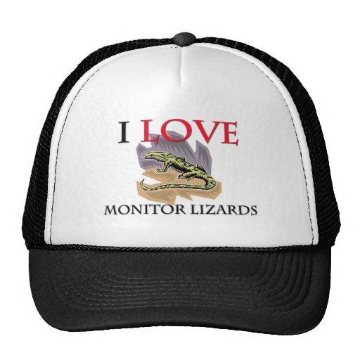 I Love Monitor Lizards Mesh Hats