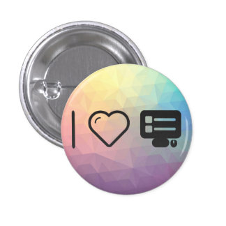 I Love Monitors 3 Cm Round Badge