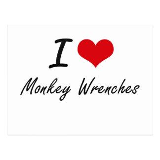 I Love Monkey Wrenches Postcard