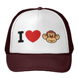 I Love Monkeys Cap