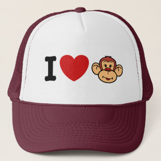 I Love Monkeys Trucker Hat