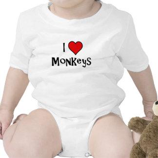 I Love Monkeys Romper