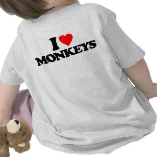 I LOVE MONKEYS TSHIRTS
