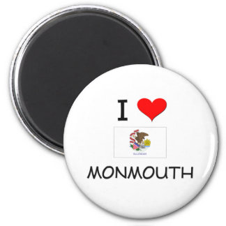 I Love MONMOUTH Illinois 6 Cm Round Magnet
