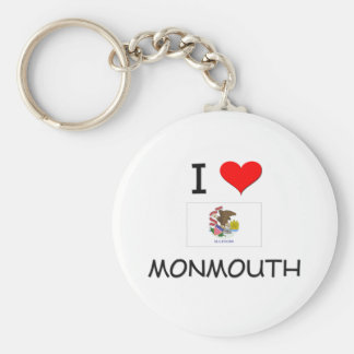 I Love MONMOUTH Illinois Basic Round Button Key Ring
