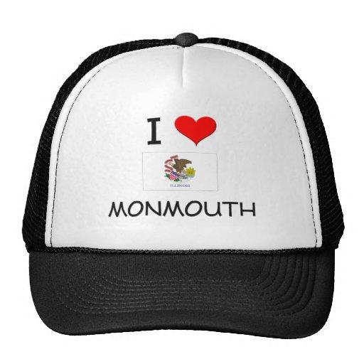 I Love MONMOUTH Illinois Trucker Hats