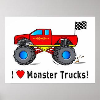 I Love Monster Trucks! Poster