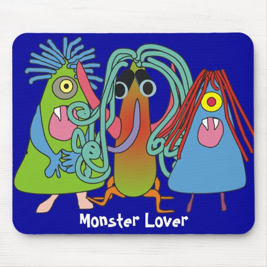 """""""I Love Monsters"""" Gifts Mouse Mat"""