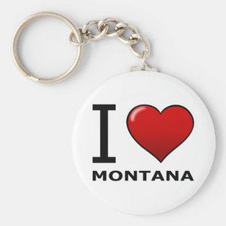 I LOVE MONTANA BASIC ROUND BUTTON KEY RING