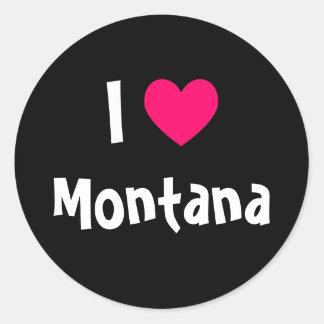 I Love Montana Classic Round Sticker