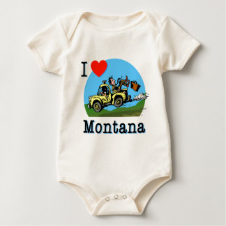 I Love Montana Country Taxi Bodysuits