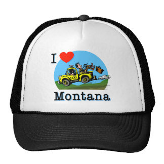 I Love Montana Country Taxi Mesh Hat