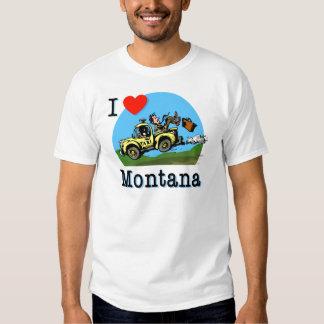 I Love Montana Country Taxi Tee Shirt