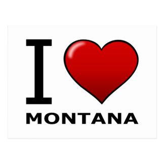 I LOVE MONTANA POSTCARD