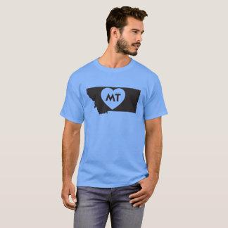 I Love Montana State Men's Basic Dark T-Shirt