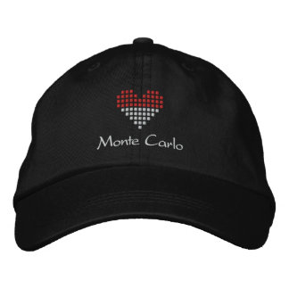 I Love Monte Carlo Cap - Monaco Heart Flag Hat Baseball Cap