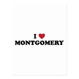 I Love Montgomery Alabama Postcard