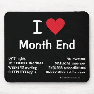 Christmas Accounting Jokes.I Love Month End Cruel Funny Accountant Joke Gift Mouse Mat