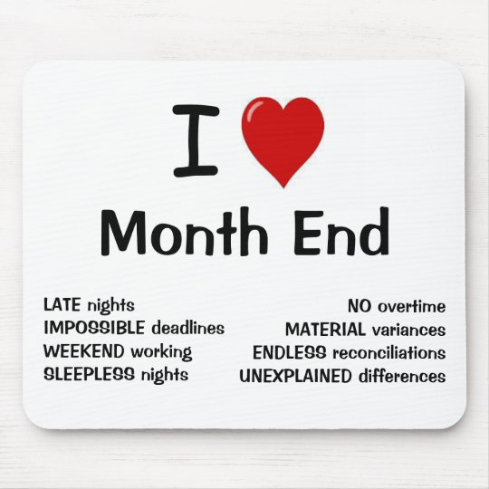 I Love Month End - I Heart Month