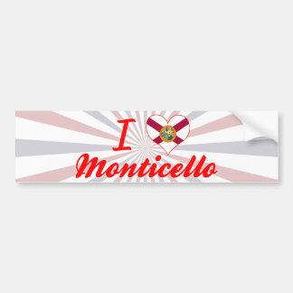 I Love Monticello, Florida Bumper Sticker