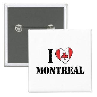 I Love Montreal Canada 15 Cm Square Badge
