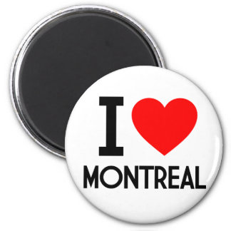 I Love Montreal 6 Cm Round Magnet