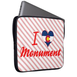 I Love Monument, Colorado Laptop Sleeve