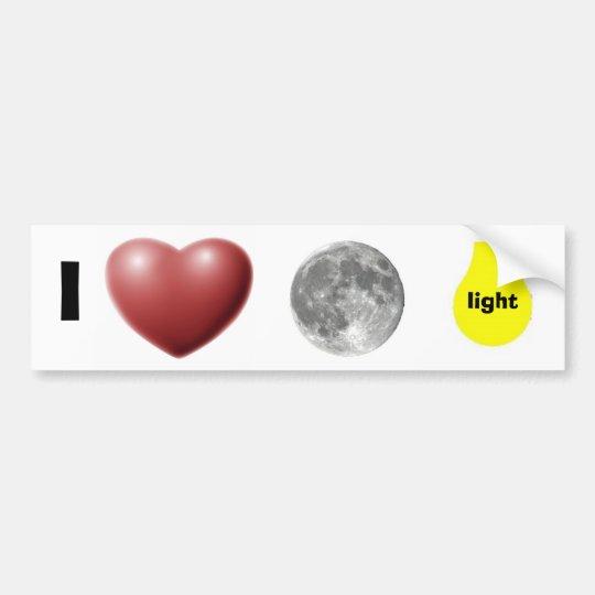 i love moonlight bumper sticker