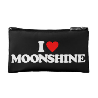 I LOVE MOONSHINE COSMETIC BAG