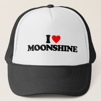 I LOVE MOONSHINE TRUCKER HAT