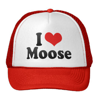 I Love Moose Cap