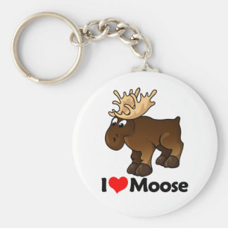 I Love Moose Key Chains