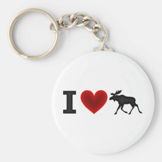 I Love Moose Keychain