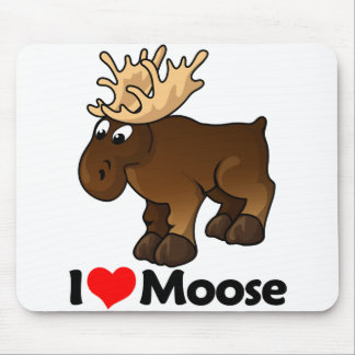 I Love Moose Mouse Mat